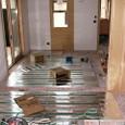 床暖房パネル敷き